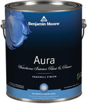 Benjamin Moore Aura paint can